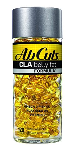 Ab Cuts CLA Belly Fat Formula, Weight Loss Supplement for Men and Women, Fat Burner, Omega 3 Fish Oil, Flaxseed Oil, Vitamin E, 120 Softgels