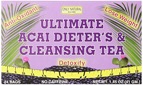 Only Natural Ultimate Acai Dieter's & Cleansing Teas, 24-Count. Net WT. 1.45 Oz