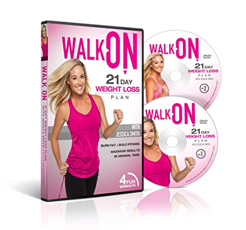 Walk On: 21 Day Weight Loss Plan 2 Disc Set DVD with Jessica Smith