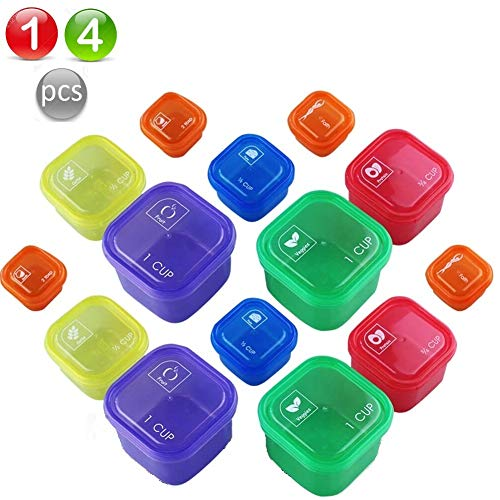 21 Day Fix Containers and Food Plan - Portion Control Container Kit for Weight Loss - Beachbody Portion Containers with Recipe (Multicolors)
