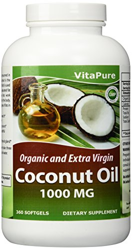 Vita Pure Coconut Oil Weight Loss Diet Supplement (360-Softgels/1000MG)