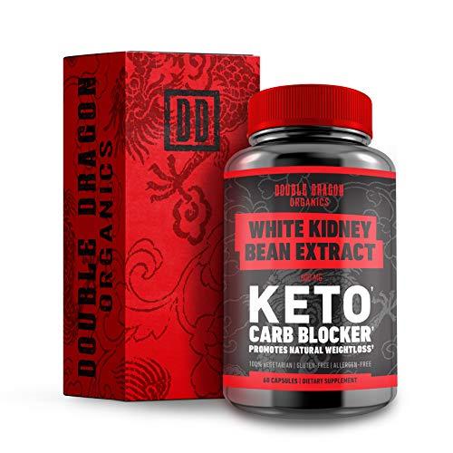White Kidney Bean Extract - 100% Pure Carb Blocker and Fat Absorber - Keto Carb Blocker- Double Dragon Organics (60 Caps / 600MG)