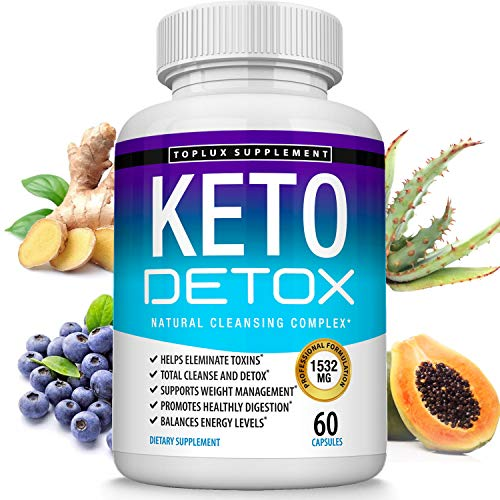 Keto Detox Pills Advanced Cleansing Extract – 1532 Mg Natural Acai Colon Cleanser Formula Using Ketosis & Ketogenic Diet, Flush Toxins & Excess Waste, for Men Women, 60 Capsules, Lux Supplement