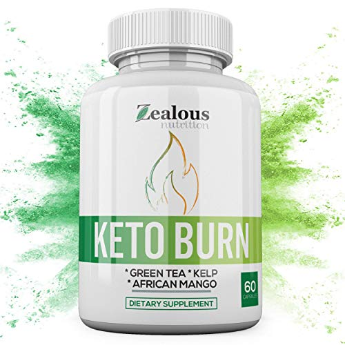 Pure Keto Diet Capsules + Apple Cider Vinegar - Shark Tank Advanced Weight Loss Formula W/Green Tea, Ketones, Kelp - Blend to Burn Fat, Support Ketosis, Boost Energy and Enhance Focus, 60 cap