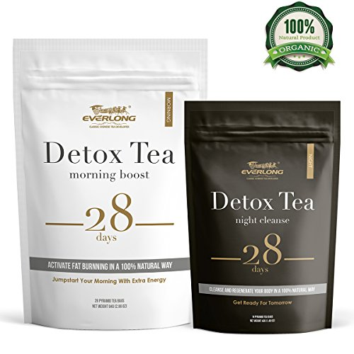 Detox Tea 28 Day Ultimate Teatox - Burn Fat and Boost Your Energy, Colon Cleanse and Flat Belly, Activate Immune System and Accelerate Healthful Weight Loss - Easy Brewing and Taste Delicious