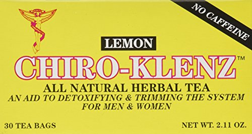 Chiro-klenz Tea Lemon | Detox, Cleansing Tea | Supports Weightloss | Relieves Constipation | All Natural, Caffiene Free 30 Teabags