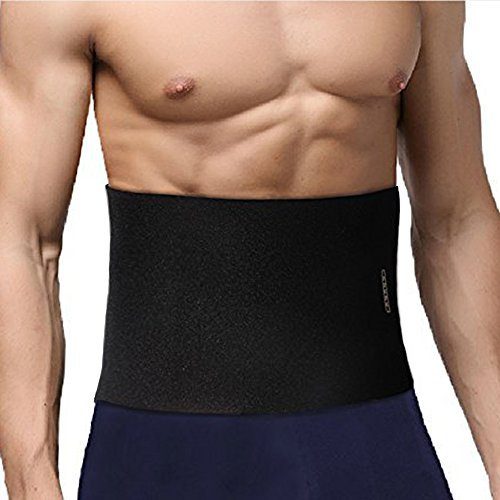 Ohuhu Waist Trimmer, Adjustable Neoprene Ab Trainer Belt for Back Support, Weight Loss, Sweat Enhancer, Body Slimmer, Fits Up to 44 Inches, for Men & Women