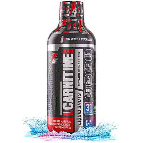 ProSupps L-Carnitine 3000 Liquid Fat Burner, Stimulant Free Metabolic Enhancer, (31 Servings, Blue Razz)