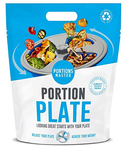 Portions Master All in One Plate | Diet Weight Loss Aid | Food Management & Servings Control (All in One)