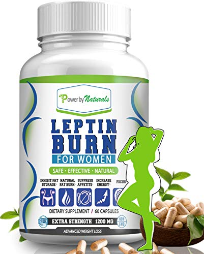 Power By Naturals - Leptin Burn for Women - Natural Appetite Suppressant, Metabolism Booster for Weight Control Diet Pills- Leptin Supplements - 60 Capsules - Fat Burner Weight Loss Pills for Women