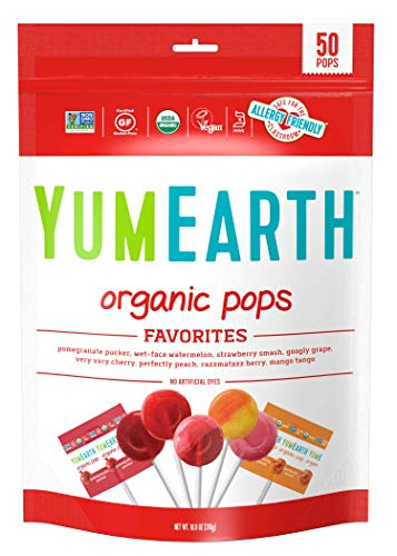 YumEarth Organic Lollipops, Assorted Flavors, 50 Count (Packaging May Vary)