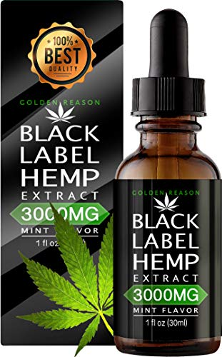 Hemp Oil 3000mg Anxiety Reducer. Pain Relief. Weight Management .Natural Sleep Aid. Helps Improve Nerve Health & Helps Regulate Metabolism. with Natural Mint Flavor.
