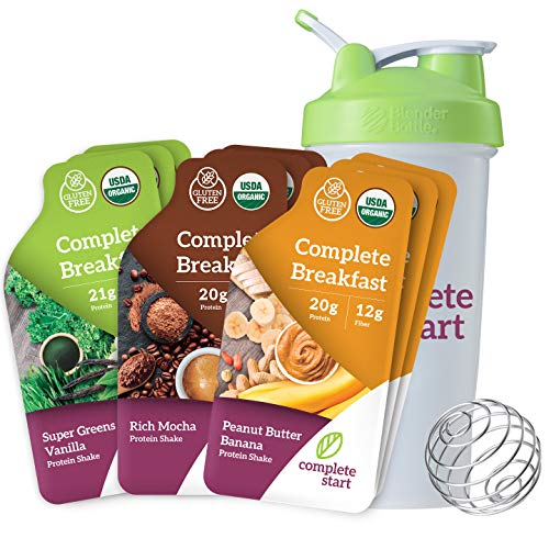 Complete Start Meal Replacement Shake | 9 Meals + FREE Blender Bottle | Plant-Based | Vegan | Gluten Free Weight Loss, Breakfast Nutritional Supplement | USDA Organic, Dairy Free, Non-GMO