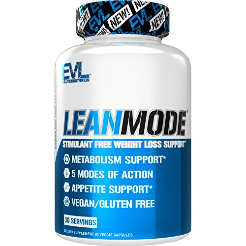 Evlution Nutrition Lean Mode - Complete Stimulant-Free Weight Loss Support and Diet System with Green Coffee, Carnitine, CLA, Green Tea, Garcinia Cambogia for Fat Burning and Metabolism (30 Servings)