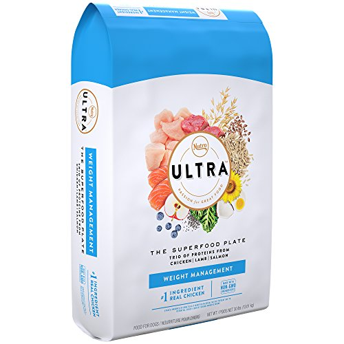 NUTRO ULTRA Adult Weight Management High Protein Natural Dry Dog Food for Weight Control with a Trio of Proteins from Chicken, Lamb and Salmon, 30 lb. Bag