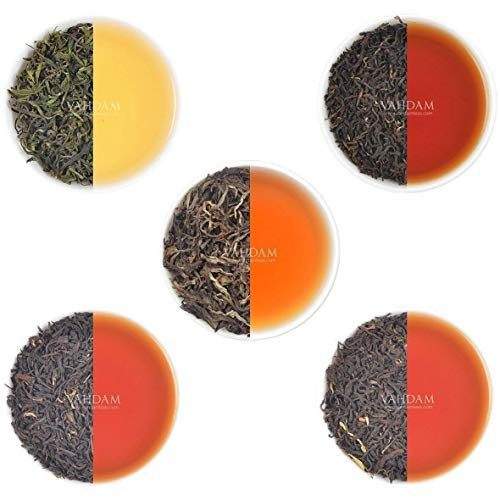 VAHDAM, Oolong Tea Leaves Sampler - 5 TEAS, 25 Servings | 5 Premium Variety Of Oolong Teas for Weight loss and Detox | 100% Natural and Pure Oolong Tea Leaves | Brew Hot, Iced Or Kombucha Tea
