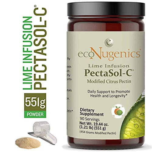 ecoNugenics PectaSol-C Modified Citrus Pectin Cellular Health and Immune System Supplement - Lime Infusion Powder - Maintain Healthy Galectin-3 Levels - Cardiovascular Support (551.29 Grams)
