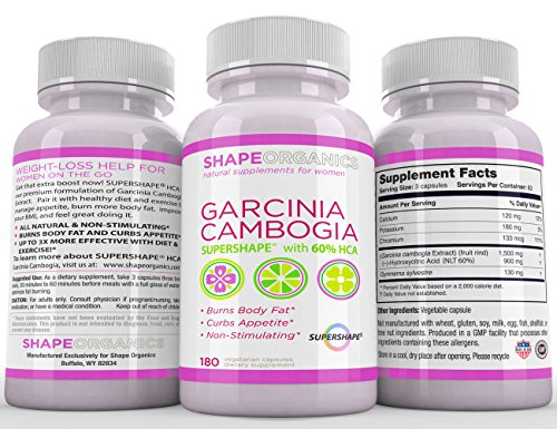 SAFE AND EFFECTIVE Natural Appetite Suppressant. Pure Garcinia Cambogia Extract. LOSE WEIGHT and KEEP IT OFF. 180 Capsules. Powerful weight loss - Gentle on you