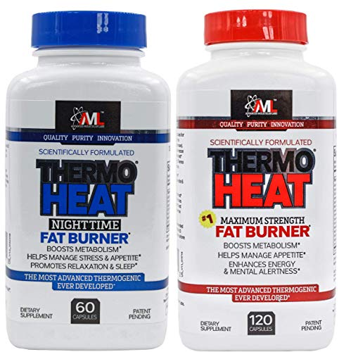 Advanced Molecular Labs - Thermo Heat Fat Burner Day/Night Stack, Boost Metabolism, Manage Appetite, 180 Capsules