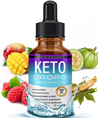 Keto Diet Drops Weight Loss Ketogenic Supplement - Premium Fat Burner Formula to Boost Metabolism, Suppress Appetite & Cravings, Better Absorption Liquid, Garcinia Cambogia, Effective for Men & Women