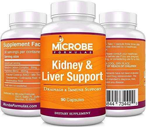 Microbe Formulas: Kidney & Liver Support - Drainage & Immune System Support - 90 Capsules - Supports Healthy Kidney & Liver Function - Provides Detox Support - Promotes Improved Bioflow