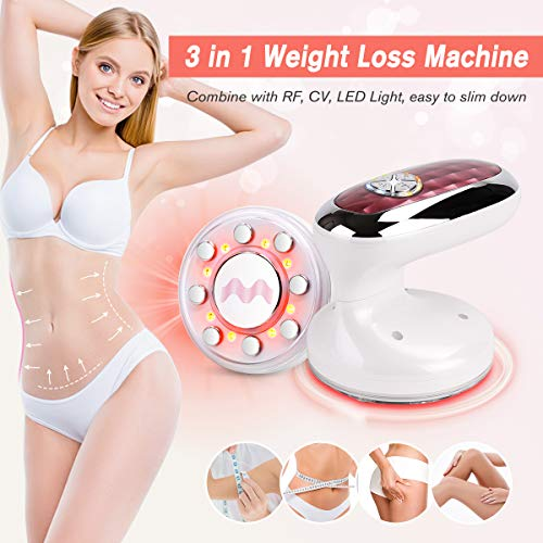 Weight Loss Machine 3 in 1 Home Use CV Body Shaping Massager Red Light for Burn Fat, Skin Tightening Portable