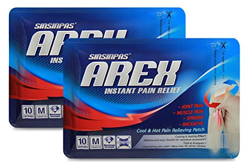 SINSINPAS AREX Cool & Hot Pain Relieving Patch, Medium 2 Pack (20 Patches Total)