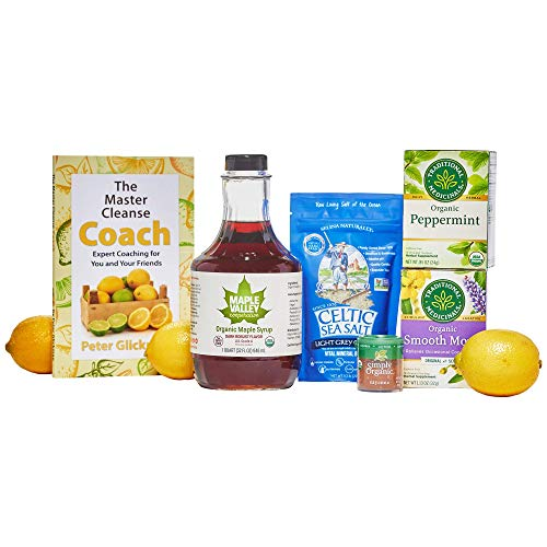 Maple Valley 5 Day Organic Master Cleanse Lemonade Detox/Kit with Peter Glickman Master Cleanse Coach Book