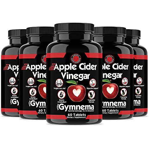 Angry Supplements Apple Cider Vinegar Pills for Weight Loss - Natural Detox Remedy Includes Gymnema, Cinnamon, CLAS, and Garcinia for Complete Diet and Health - Starter Kit or Gift (6-Bottles)