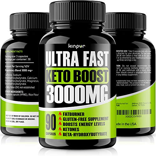 Keto Boost 5X Potent Diet Pills - Best Keto Burner for Men & Women that Works Fast - Thermogenic Weight Loss with Exogenous BHB Ketones for Night Time Burning - Hardcore Energy Booster Made in the USA
