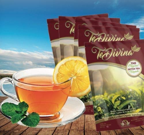 The Original Detox Tea Formula 4 weeks supply. Excellent assistance during the weight loss and detox program (Limited Edition)