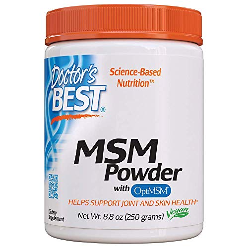 Doctor's Best MSM Powder with OptiMSM, Non-GMO, Vegan, Gluten Free, Soy Free, 250 Grams