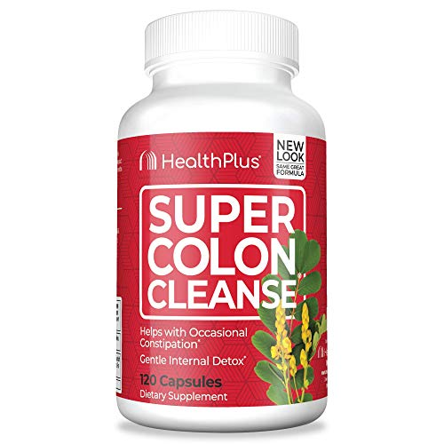 Health Plus Super Colon Cleanse: 10-Day Cleanse -Detox | 3 Cleanses, 120 Count (Pack of 1)