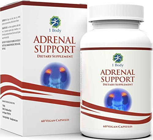 Adrenal Support - Cortisol Manager - A Complex Formula containing Rhodiola Rosea, Vitamin B12, B5, B6, Magnesium, Ginger Root Extract, Ashwagandha, Schizandra Berry, Licorice and More - Vegetarian