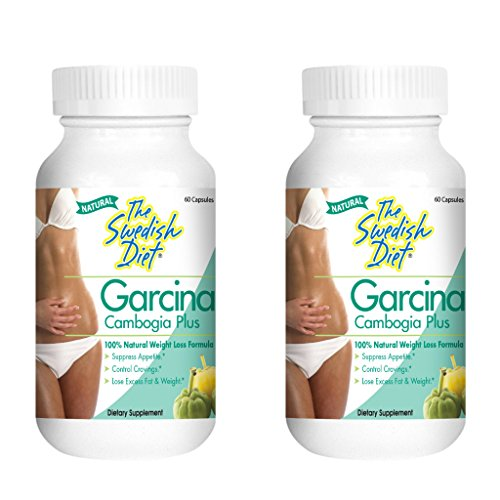 Garcinia Cambogia Extract Weight Loss Supplement | 50% HCA per Serving for Fast Fat Burn | Best Appetite Suppressant & Carb Blocker Includes Calcium and Chromium 2-Pack 1000mg, 60 Caps. Gluten Free
