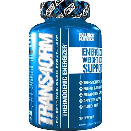 Evlution Nutrition Trans4orm - Complete Thermogenic Fat Burner for Weight Loss, Clean Energy and Focus with No Crash, Boost Metabolism, Suppress Appetite, Diet Pills, 30 Servings