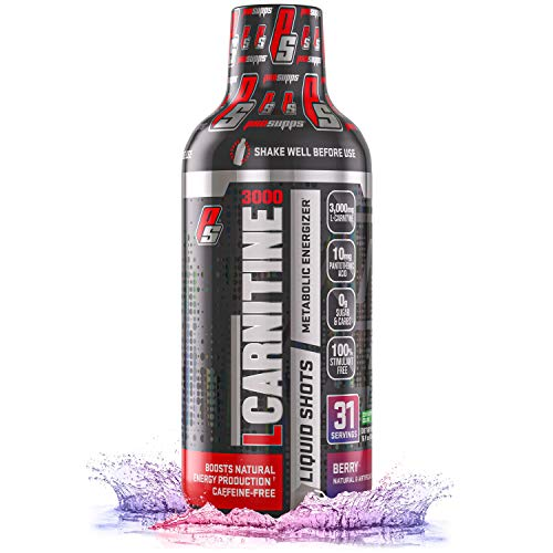 ProSupps L-Carnitine 3000 Liquid Fat Burner, Stimulant Free Metabolic Enhancer, (31 Servings, Berry Flavor)