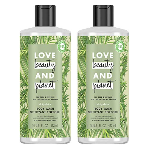 Love Beauty And Planet Body Wash Tea Tree & Vetiver 16 oz 2 Count