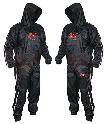 2Fit Heavy Duty Sweat Suit Sauna Exercise Gym Suit Fitness, Weight Loss, AntiRip (5XL)