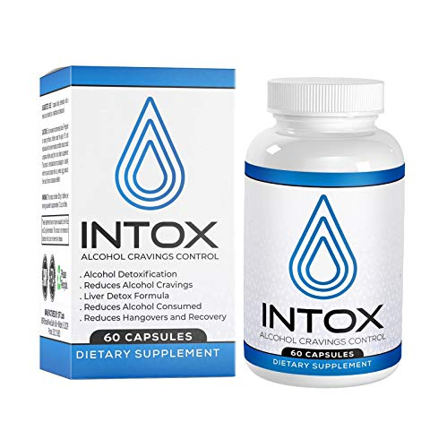 INTOX Anti-Alcohol and Alcohol Support Supplement with 10 X Faster Absorption Than Liquids Help Reduce Alcohol Cravings with a Proprietary Liver Detox Vitamin Natural Kudzu Formula 30 Capsules.