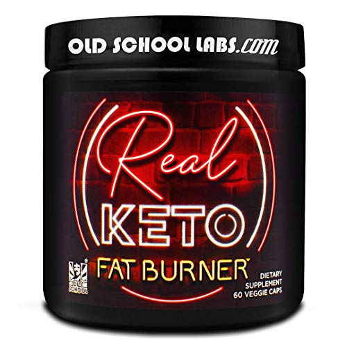 Old School Labs REAL KETO FAT BURNER - Antidote to Keto Plateaus - Thermogenic Weight Loss Supplement - for Men and Women - Fat Loss, Energy Boost, Appetite Control, Better Mood - 60 Veggie Diet Pills