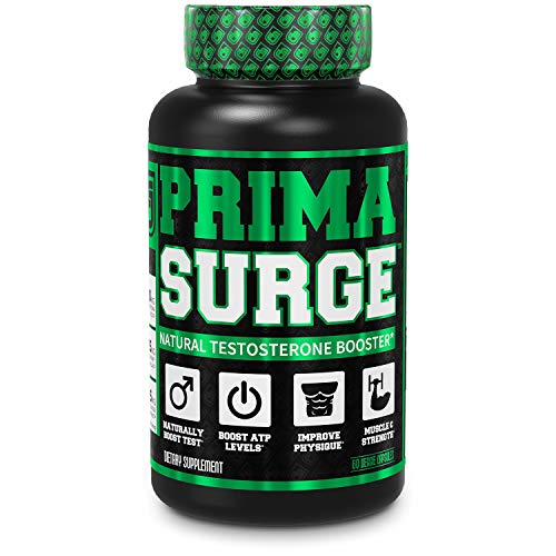 PRIMASURGE Testosterone Booster for Men - Boost Lean Muscle Growth, Strength, Energy & Fat Loss | Natural Test Booster Supplement w/Premium PrimaVie, Ashwagandha & More - 60 Veggie Pills
