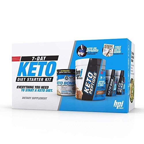 BPI Sports 7-Day Keto Diet Starter Kit (Keto Bomb, Keto Peptides, Keto BHB Fatburner, Keto Blast, Free Keto Guide Included) DR Keto Approved