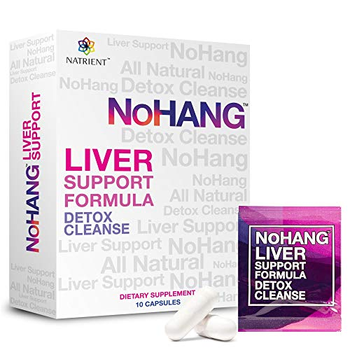NoHang Liver Detox Supplement & Hangover Pill – Supports Liver Health & Function – All-Natural, Gluten Free, Non-GMO - Premium Quality Liver Cleanse Formula (10 Capsules)