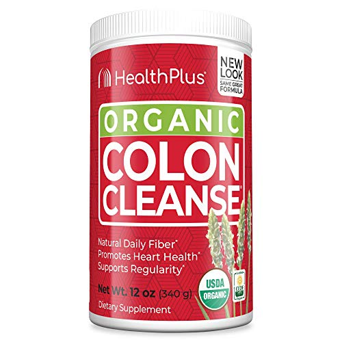 Health Plus Colon Cleanse - All Natural Daily Fiber, Detox, USDA & CCOF Organic Certified, Heart Healthy (12 Ounces, 56 Servings)