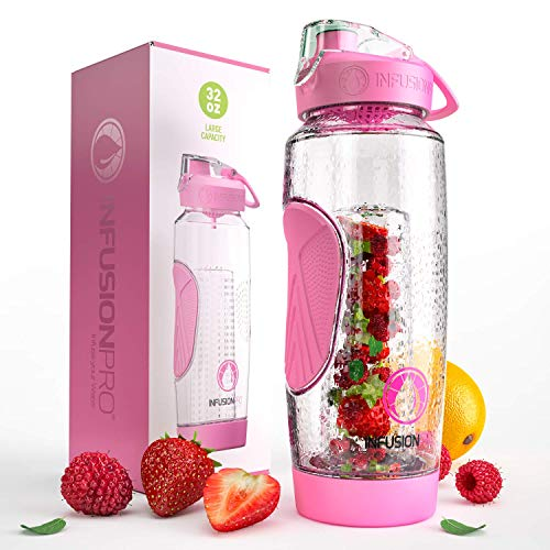 Infusion Pro 32 oz. Water Infuser Bottles with Insulated Sleeve