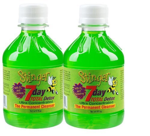 2 Stinger 7 Day Permanent Detox 2-1 Week bottles 8oz each w/ 2 Free 6 Panel Drug Tests(mAMP/THC/OXY/COC/OPI/BZO)