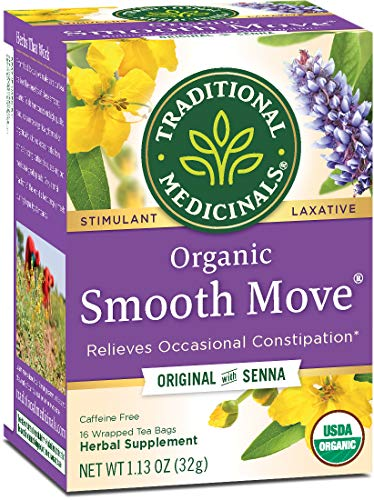 Traditional Medicinals Organic Smooth Move Tea, 16 Tea Bags (Pack of 6)