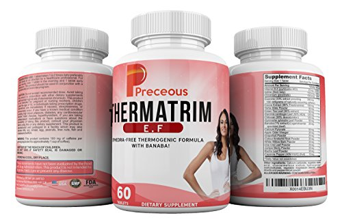 Preceous Thermatrim 5 in 1 Weight Loss Slimming Pills Best Value Natural Weight Loss Supplement Fat Burner and Appetite Suppressor for Men and Women Contains Garcinia Cambogia