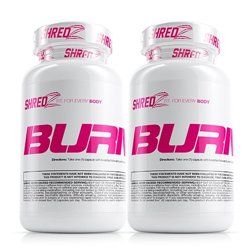 SHREDZ Fat Burner Supplement Pill for Women Lose Weight, Increase Energy, Best Way to Shed Pounds and Boost Metabolism, 120 Capsules (2 Month Supply)